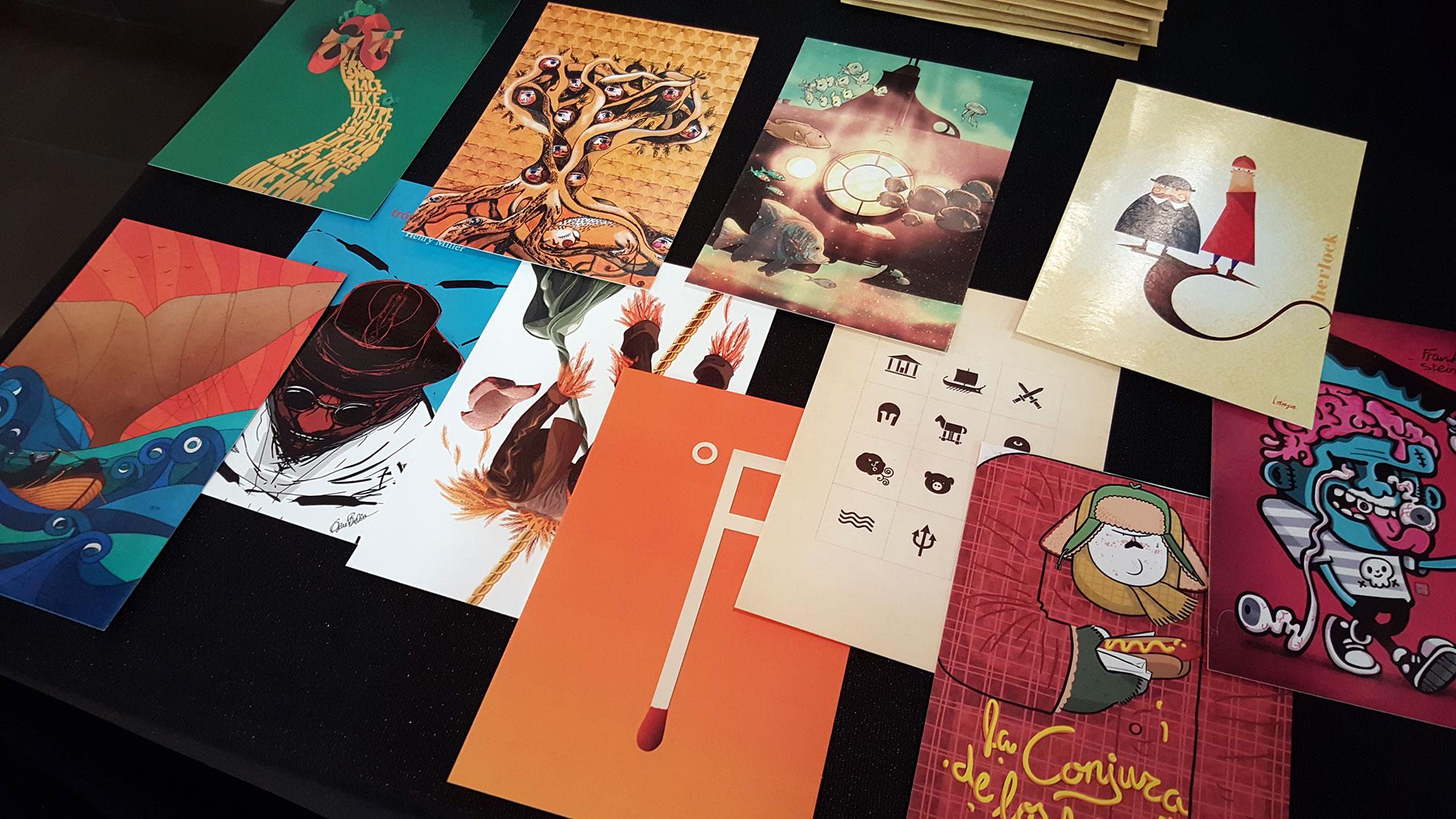 """Postales recopilación ilustraciones de los """"Clásicos Ilustrados"""" de La Pila"""