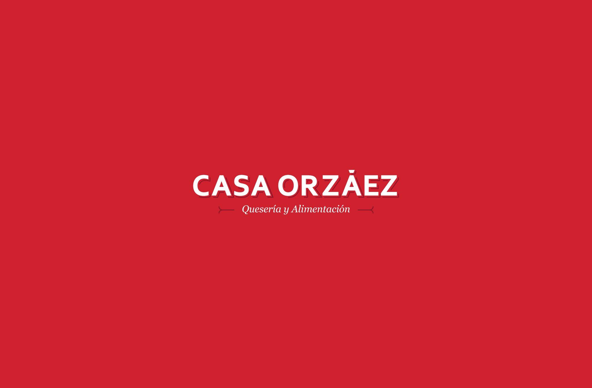 Branding Casa Orzáez Quesos y Alimentación rojo