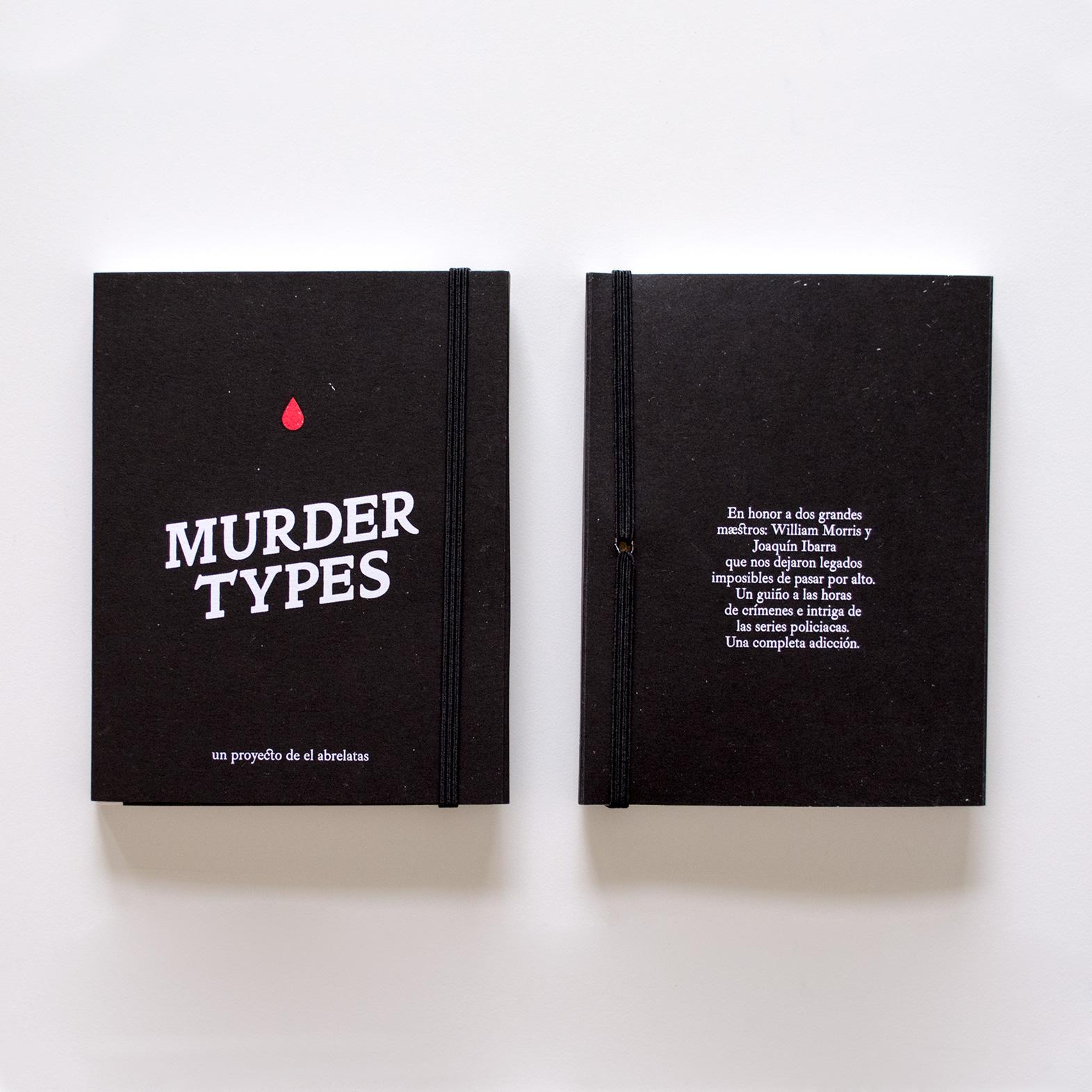Portada de libro Murder Types